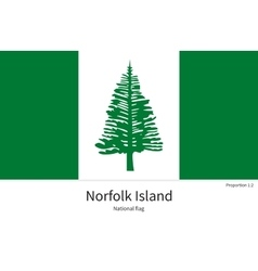 National flag of norfolk island with correct vector