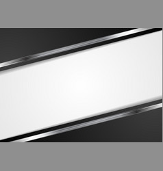 Tech dark background with metallic stripes vector
