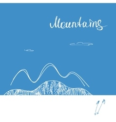 Poster forward to mountains mountains vector