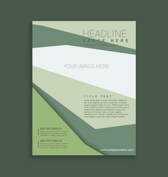 Abstract elegant business style brochure flyer vector