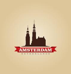 Amsterdam Netherlands city symbol vector image vector image