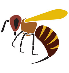 Angry bee vector