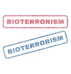 bioterrorism textile stamps vector image vector image