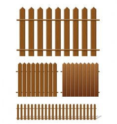 brown fence vector image
