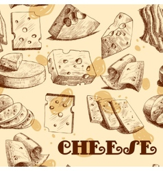 Cheese sketch seamless wallpaper vector