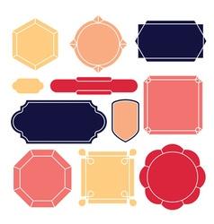 Contour label 11 elements vector image vector image