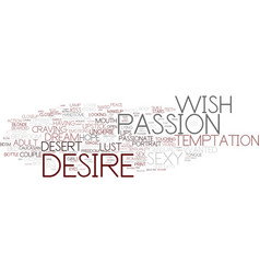Desire word cloud concept vector