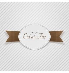 Eid al-fitr muslim festive tag vector