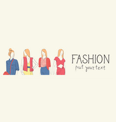Fashion collection of clothes set of male and vector