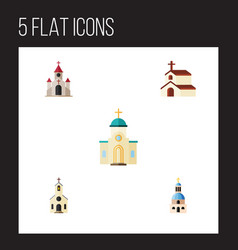 Flat icon building set of religion religious vector
