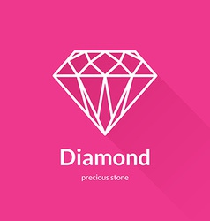 Geometric faceted diamond shape logo vector image vector image