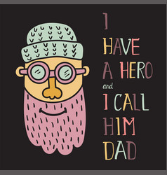 hero dad three vector image vector image