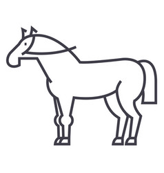 horse sign line icon sign on vector image