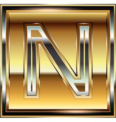 Ingot font letter n vector