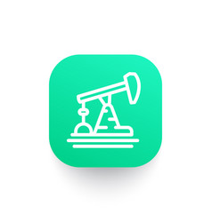 Oil pump icon in linear style vector