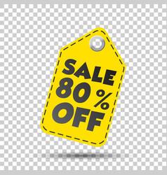 Sale 80 off hang tag vector