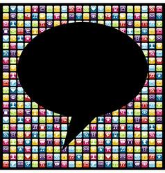 Social media smartphone application icon concept vector image