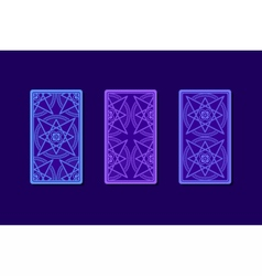 Tarot cards by reverse side classic designs vector