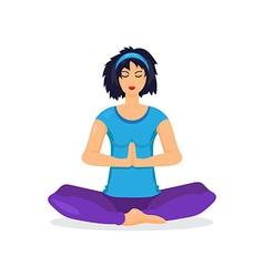 Training yoga woman vector image