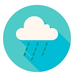 Weather Cloud Rain Circle Icon vector image vector image