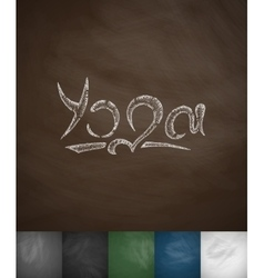Yoga icon hand drawn vector