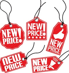 New price red tag set vector