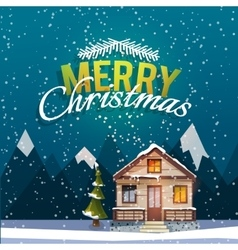 Christmas and new year greeting card sweet family vector