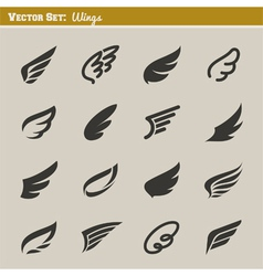 Wings - set of design elements vector