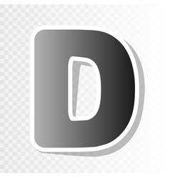 letter d sign design template element new vector image