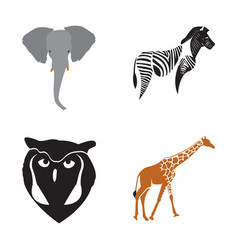 Set of abstract animals vector
