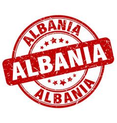 Albania red grunge round vintage rubber stamp vector