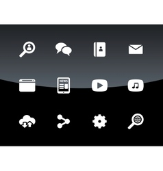 Web icons on black background vector