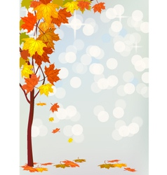 Autumn holiday postcard vector image
