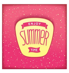 Sweet summer sticker vector