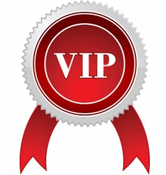 Vip badge vector