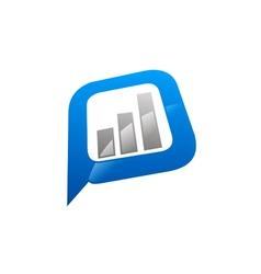 Finance graph icon logo vector