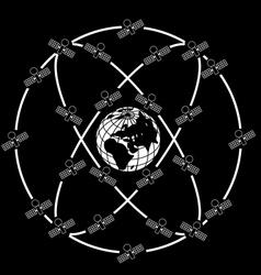 Space satellites vector