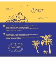 Poster on the subject of travel and tourism hand vector
