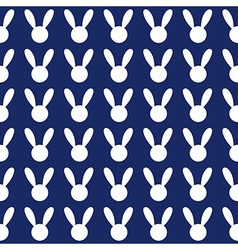 White Rabbit Navy Blue Background vector image