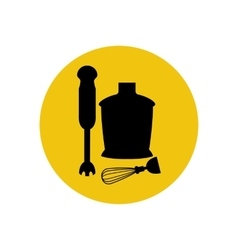 Immersion blender icon silhouette vector