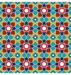 Abstract arabic islamic seamless geometric pattern vector image vector image