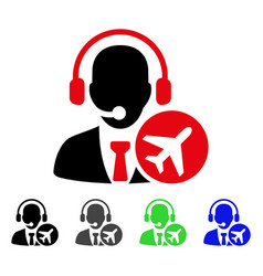Air dispatcher flat icon vector