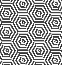 Alternating black and white diagonally cut vector image vector image