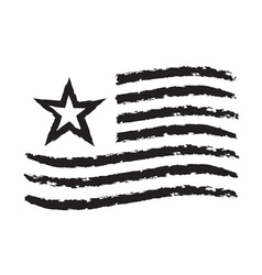 American wave flag grunge symbol independence day vector