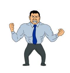 Angry businessman cartoon vector