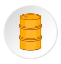 Barrel icon cartoon style vector image vector image