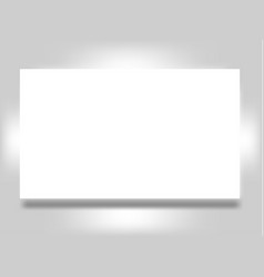 Blank flyer banner or post card poster isolated on vector