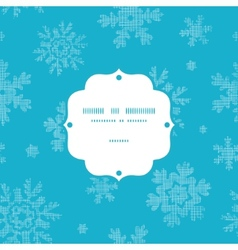 Blue lace snowflakes textile frame seamless vector
