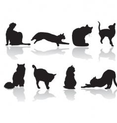cat pose vector image