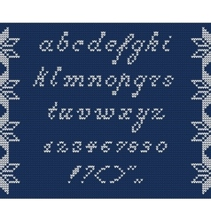 Christmas knitted font 1 vector
